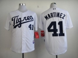 Detroit Tigers #41 Victor Martinez White  Los Tigres  Stitched MLB Jersey