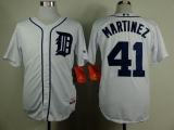 Detroit Tigers #41 Victor Martinez White Cool Base Stitched MLB Jersey