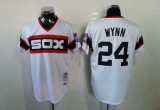Mitchell And Ness 1983 Chicago White Sox #24 Early Wynn White Throwback Stitched MLB Jersey