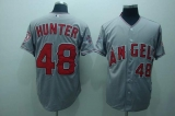 Los Angeles Angels of Anaheim #48 Torii Hunter Stitched Grey Cool Base MLB Jersey