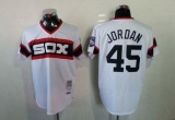 Mitchell And Ness 1983 Chicago White Sox #45 Michael Jordan White Throwback Stitched MLB Jersey