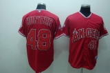 Los Angeles Angels of Anaheim #48 Torii Hunter Stitched Red Cool Base MLB Jersey