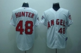 Los Angeles Angels of Anaheim #48 Torii Hunter Stitched White Cool Base MLB Jersey