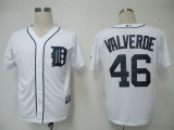 Detroit Tigers #46 Jose Valverde White Cool Base Stitched MLB Jersey