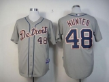 Detroit Tigers #48 Torii Hunter Grey Cool Base Stitched MLB Jersey