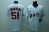 Los Angeles Angels of Anaheim #51 Joe Saunders Stitched White MLB Jersey