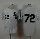 Mitchell And Ness 1993 Chicago White Sox #72 Carlton Fisk White Stitched MLB Jersey