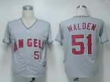Los Angeles Angels of Anaheim #51 Jordan Walden Grey Cool Base Stitched MLB Jersey