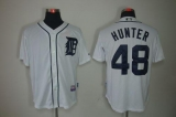 Detroit Tigers #48 Torii Hunter White Cool Base Stitched MLB Jersey