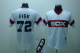 Mitchell and Ness Autographed MLB Chicago White Sox #72 Carlton Fisk Stitched White Throwback Jersey