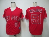 Los Angeles Angels of Anaheim #51 Jordan Walden Red Cool Base Stitched MLB Jersey
