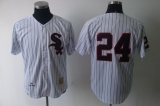Mitchell and Ness Chicago Chicago White Sox #24 Early Wynn White Throwback Stitched MLB Jerseys