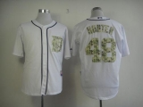 Detroit Tigers #48 Torii Hunter White USMC Cool Base Stitched MLB Jersey