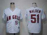 Los Angeles Angels of Anaheim #51 Jordan Walden White Cool Base Stitched MLB Jersey