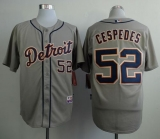 Detroit Tigers #52 Yoenis Cespedes Grey Cool Base Stitched MLB Jersey