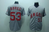 Los Angeles Angels of Anaheim #53 Bobby Abreu Stitched Grey Cool Base MLB Jersey