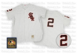 Mitchell and Ness Chicago White Sox #2 Nellie Fox Stitched White Throwback MLB Jersey