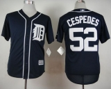 Detroit Tigers #52 Yoenis Cespedes Navy Blue Cool Base Stitched MLB Jersey