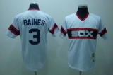 Mitchell and Ness Chicago White Sox #3 Harold Baines Stitched White Throwback MLB Jersey