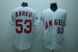 Los Angeles Angels of Anaheim #53 Bobby Abreu Stitched White Cool Base MLB Jersey