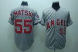 Los Angeles Angels of Anaheim #55 Hideki Matsui Stitched Grey Cool Base MLB Jersey