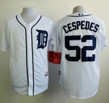 Detroit Tigers #52 Yoenis Cespedes White Cool Base Stitched MLB Jersey