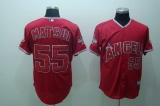Los Angeles Angels of Anaheim #55 Hideki Matsui Stitched Red Cool Base MLB Jersey