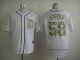 Detroit Tigers #58 Doug Fister White USMC Cool Base Stitched MLB Jersey