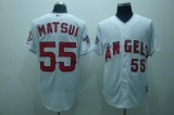 Los Angeles Angels of Anaheim #55 Hideki Matsui Stitched White Cool Base MLB Jersey