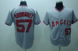 Los Angeles Angels of Anaheim #57 Francisco Rodriguez Stitched Grey MLB Jersey
