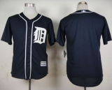 Detroit Tigers Blank Navy Blue Cool Base Stitched MLB Jersey
