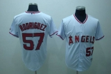 Los Angeles Angels of Anaheim #57 Francisco Rodriguez Stitched White MLB Jersey