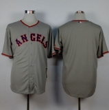 Los Angeles Angels of Anaheim Blank Grey 1965 Turn Back The Clock Stitched MLB Jersey