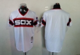 Mitchell And Ness Chicago White Sox Blank White Throwback Stitched MLB Jersey
