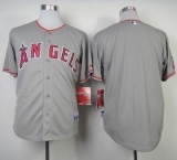 Los Angeles Angels of Anaheim Blank Grey Cool Base Stitched MLB Jersey