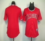 Los Angeles Angels of Anaheim Blank Red Cool Base Stitched MLB Jersey