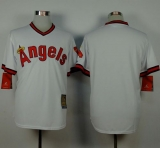 Los Angeles Angels of Anaheim Blank White 1980 Turn Back The Clock Stitched MLB Jersey