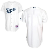 Detroit Tigers Blank White Home  Los Tigres  Stitched MLB Jersey