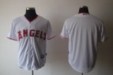 Los Angeles Angels of Anaheim Blank White Cool Base Stitched MLB Jersey