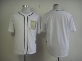 Detroit Tigers Blank White USMC Cool Base Stitched MLB Jersey