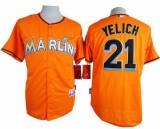 Miami Marlins #21 Christian Yelich Orange Cool Base Stitched MLB Jersey