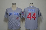 Chicago Cubs #44 Anthony Rizzo Grey Cool Base Stitched MLB Jersey