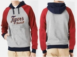Detroit Tigers Pullover Hoodie Grey & Red