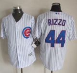 Chicago Cubs #44 Anthony Rizzo New White Strip Cool Base Stitched MLB Jersey