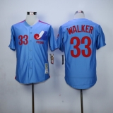 Expos #33 Larry Walker Blue Stitched MLB Jersey