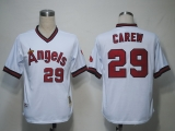 Mitchell and Ness Los Angeles Angels of Anaheim #29 Rod Carew White Stitched MLB Jersey