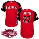 Miami Marlins #27 Giancarlo Stanton Red 2015 All-Star National League Stitched MLB Jersey