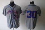 Mitchell and Ness 1969 New York Mets #30 Nolan Ryan Grey Stitched MLB Jersey