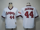 Mitchell and Ness Los Angeles Angels of Anaheim #44 Reggie Jackson White Stitched MLB Jersey