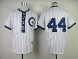 Chicago Cubs #44 Anthony Rizzo White 1909 Turn Back The Clock Stitched MLB Jersey
